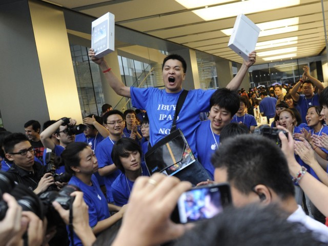 Il primo acquirente di iPad in Cina all'Apple Store